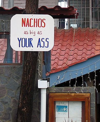 nachos sign